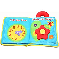 Gotovang Newborn Baby's Multifunctional Stereoscopic Flower Educational Fabric My Quiet Book Rattle Toys