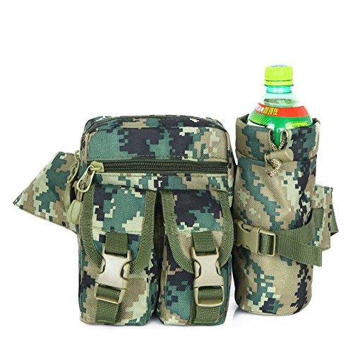 Zll/Army Tactical Pocket Casual Fans von Outdoor Sport Wasser Flasche Fanny Pack Outdoor Radfahren Taschen Reise Klettern Kleine Geldbeutel Jungle-Grün
