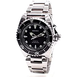 Seiko Prospex Kinetic 200 Meter Dive Men's Automatic Analogue Watch with Black Dial and Stainless Steel Case SKA371P1