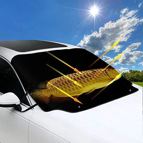 Preisvergleich Produktbild Windschutzscheiben-Auto-Abdeckungs-as... Spezies des Goldfisch-Sonnenschutzes für die Auto-Windschutzscheibe faltbar 57.9x46.5 Zoll (147cmx118cm) für die meisten Fahrzeuge,  indem Sie die Windsch