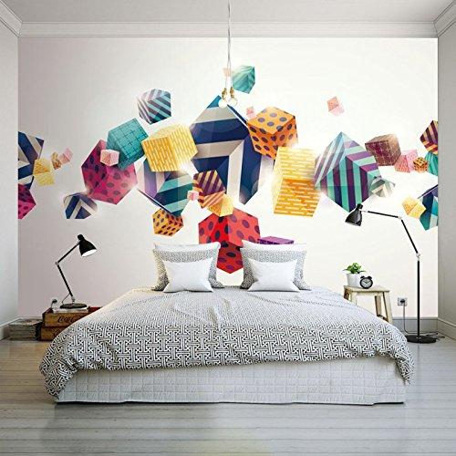 Kuamai Custom 3D Wallpaper 3D Couleur Stéréo Moderne Fort Wallpaper Salon Chambre À Coucher Bureau Studio Hôtel Murale Dressing Sur Mesure-350X250Cm