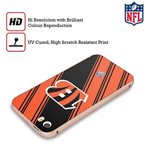 Ufficiale NFL Pattern 2017/18 Cincinnati Bengals Oro Cover Contorno con Bumper in Alluminio per Apple iPhone 5 / 5s / SE Righe