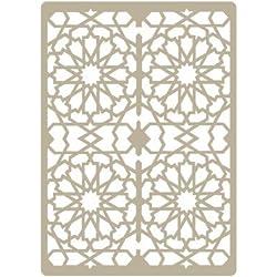 Stencil Deco Embossing 029 Celosia Arabe. Medidas aproximadas: Medida exterior del stencil: 15 x 21 cm Medida del diseño: 14 x 20 cm