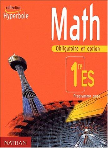 Math 1ère ES. Programme 2001