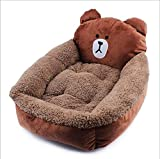 #3: Pets Empire Indoor Outdoor Soft Resistant Detachable Pet Supplies Machine Washable Pet Bed Pattern for Cats and Dogs Size Large --80*60*15cm Color and Bed Cartoon Design May Vary