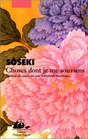 Choses Dont Je Me Souviens [Pdf/ePub] eBook
