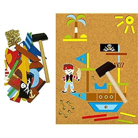 Inware 23031 – Werkzeugspiel Piraten, Hammerspiel…