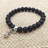 Ambiguity Bracelet de Perles en Pierre pour Hommes Bracelet frotter Sac d'Argent factice chaîne de Main Noire Bracelet de Tanzanite.