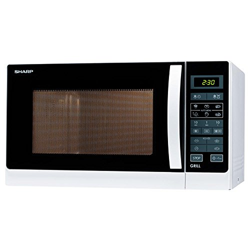 Sharp r742ww forno a microonde con grill al quarzo capacità 25 litri potenza 900 watt colore bianco