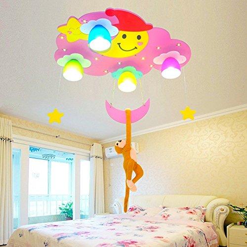 LED-kreative Monkey's der Trailer Deckenlampe Kinderzimmer Kronleuchter (4-Lampe) junger Mädchen Schlafzimmer Kinderkrippe Kinderkrippe...