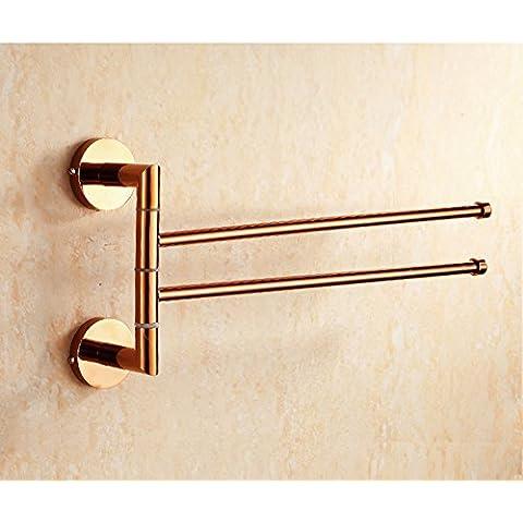 [Toalla toallero]/ Actividad oro toallero de barra/Par tres antiguo toalla/toalla giratorio/ baño