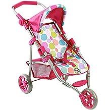 Bayer Chic 2000 612 17 - cochecito Lola, carro de la muñeca, burbujas, rosa