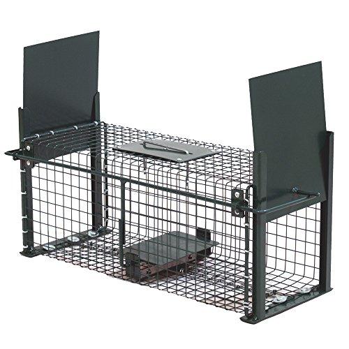 MOORLAND® SAFE 5006 TRAMPA PARA ANIMALES VIVOS - RATAS CONEJOS GATOS 50X18X18CM - 2 ENTRADAS - ALAMBRE