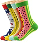 Zando Damen Baumwolle Cute Mix Blended Cartoon Funny Design Crew Kleid Socken Gr. Einheitsgröße: 18 cm- 28 cm, 4 Pairs