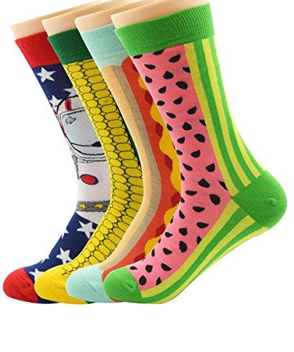 zando-vestido-lindo-mix-mezcla-de-dibujos-animados-divertido-disenado-tripulacion-calcetines-de-algo