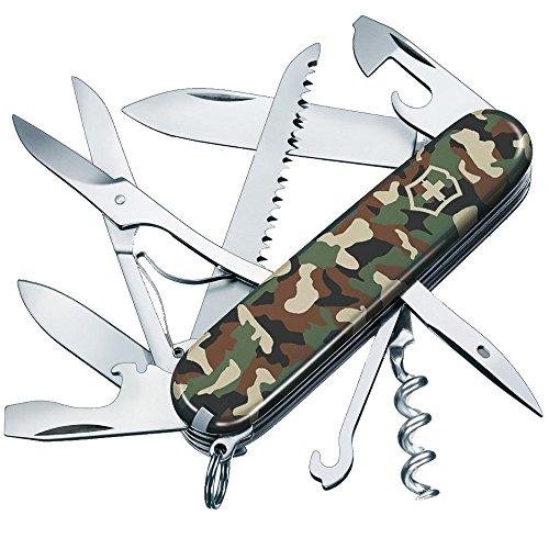 Victorinox Taschenmesser Huntsman (15 Funktionen, Schere, Holzsäge, Korkenzieher) camouflage -