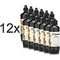 CAGO 12 x Petromax Alkan Lampenöl/Petroleum/Paraffinöl 1 Ltr. Flasche