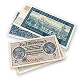 IMPACTO COLECCIONABLES Banconote ANTICHE - 2 Banconote utilizzate nei Territori Invasi Occupati dai Nazisti, Seconda Guerra Mondiale 1939-1945