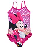 Minnie Mouse Badeanzug Kollektion 2018 Badesachen 92 98 104 110 116 122 128 Schwimmbekleidung Bademode Sommer Fuchsia (Fuchsia, 110-116)