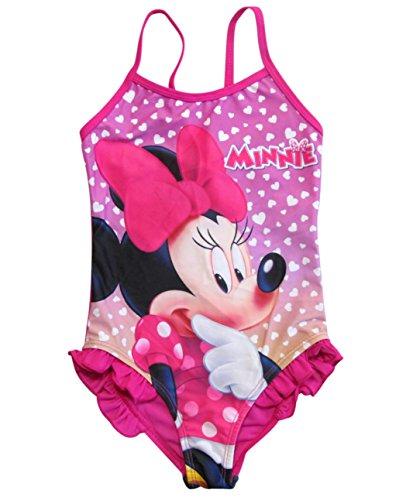 Minnie Mouse Badeanzug Kollektion 2018 Badesachen 92 98 104 110 116 122 128 Schwimmbekleidung Bademode Sommer Fuchsia (Fuchsia, 110 - 116) (Peppa Badeanzüge Für Mädchen)