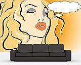 Vlies Fototapete - Pop Art Women - 230x150 cm - mit Kleister - Foto auf Tapeten - Wandtapete – Vliestapete – Wanddeko