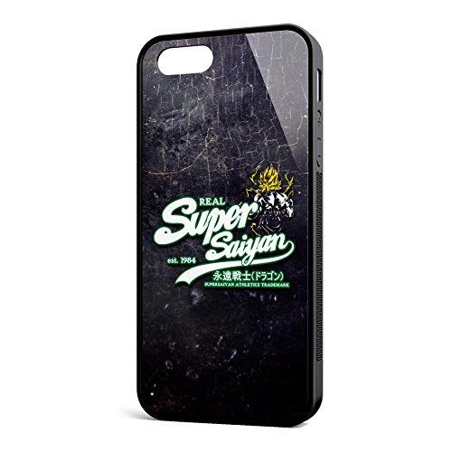 Smartcover Case Real Super Saiyan whitegreen z.B. für Iphone 5 / 5S, Iphone 6 / 6S, Samsung S6 und S6 EDGE mit griffigem Gummirand und coolem Print, Smartphone Hülle:Iphone 6 / 6S schwarz Iphone 5 / 5S schwarz