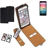 K-S-Trade Flipstyle Hülle für Allview V3 Viper Handyhülle Schutzhülle Tasche Handytasche Case Schutz Hülle + integrierter Bumper Kameraschutz, schwarz (1x)
