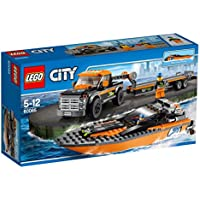 LEGO 60085 City Great Vehicles Set, 4 x 4 with Powerboat