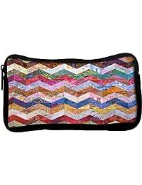 Snoogg Estudiantes poli lona de la caja de lápiz de la carpeta Utilidad de la bolsa de maquillaje cosmético del bolso