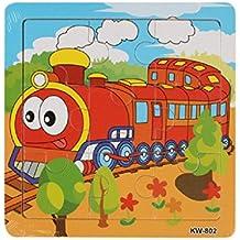 Koly® Bebé de Madera 9 Piece Jigsaw Juguetes para la Educación Infantil y Aprendizaje Puzzles Juguetes (A)