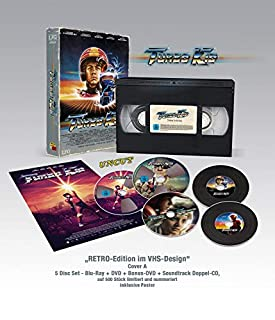 Turbo Kid - VHS RETRO-Edition (Bluray + DVD + Bonus-DVD + Doppel Soundtrack-CD) Limitiert / Nummeriert auf 500 Stück (Cover A)