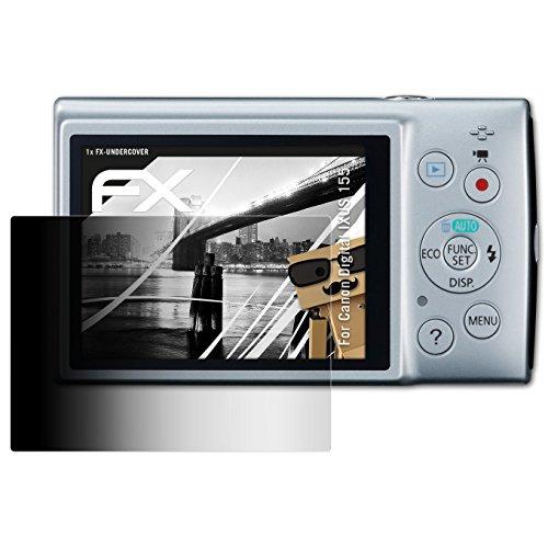 ilter für Canon Digital IXUS 155 / PowerShot ELPH 150 IS Blickschutzfolie - FX-Undercover 4-Wege Sichtschutz Displayschutzfolie (Canon Elph 150)