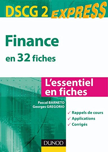 Finance DSCG 2 : en 32 fiches (Express D...