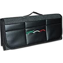 Bulmar - Organizador de lujo para maletero de coche con estampado de fibra de carbono en