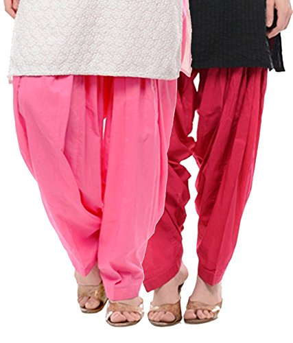 NGT Pink And Rani Pink Pure Cotton Patialas For Womens