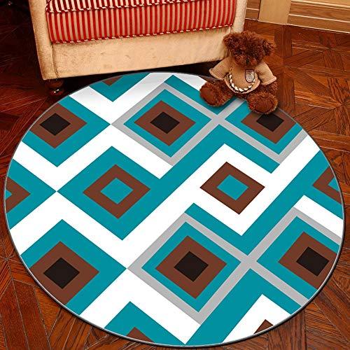 QJIAXING Teppich für Wohnzimmer Stuhl Couchtisch Drehstuhl rutschfeste Kurze Haare Matten,diameter200cm - Moderner Kunststoff-stuhl