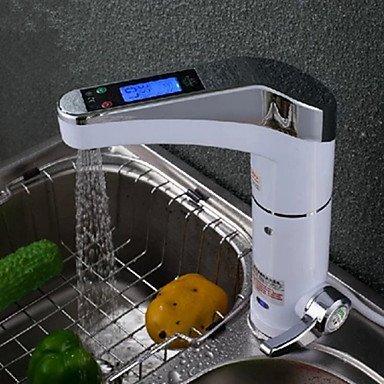 Küchenarmaturen digitale elektrische Warmwasserbereiter Kaltwasserhahn heißen Mehrzweck-weiß