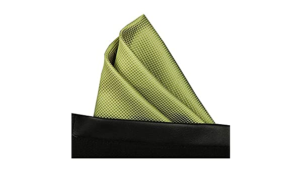 Green Color Men Silk Formal Pocket Square Hankie Wedding Party Handkerchief T02