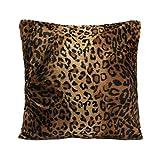 45x45cm Animal Print De Leopardo Cebra Funda De Almohada Cubierta Del Sofá Amortiguador Del Coche # 01