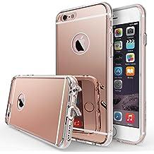 Funda iPhone 6S, Ringke [FUSION MIRROR] reflexión brillante Radiante de lujo Espejo [Protección gota / Tecnología de absorción de impactos] para Apple iPhone 6S / 6 - Rose Gold