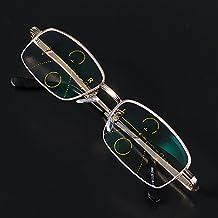 Gafas de Lectura, essort inteligente Gafas de Lectura progresivo multifocal lente presbicia marco de aleación anti fatiga, 2.0
