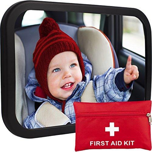 CozyHome Gemütlichen grünen Baby Auto Spiegel Rücksitz Reboard Säugling In Anblick Crash getestet und zertifiziert BONUS Reinigung Tuch & Reisen mit Kindern eBook Luxus Geschenk