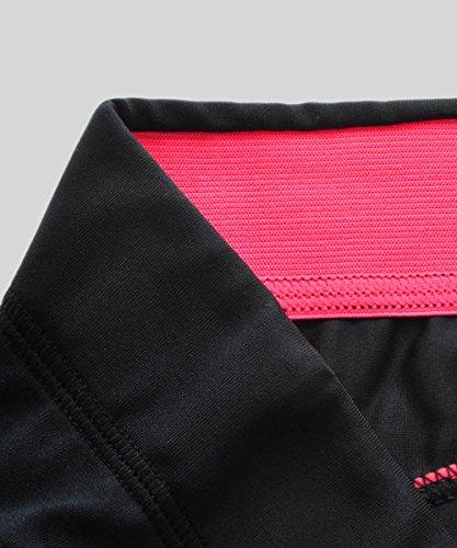SYROKAN Damen Leggings Sport Strumpfhose – Capri Pants Laufhose - 5