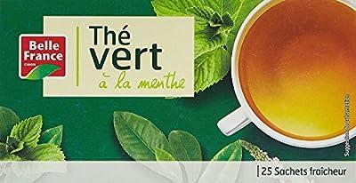 Belle France Thé Vert à la Menthe 25 Sachets 50 g