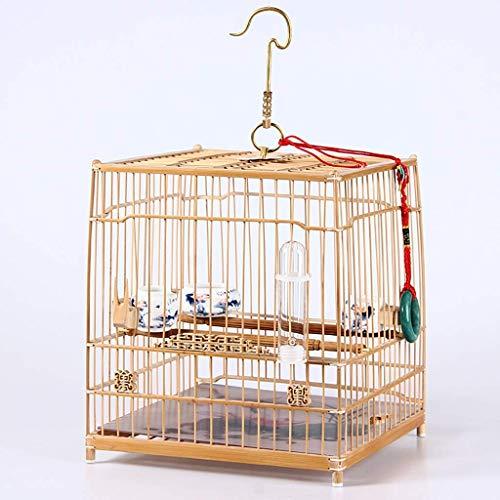 XWYGW Haustierbett Zucht Vogelkäfig Bambus Außen Vogel Träger Flug Cage, klassischer Indoor-Vogelkäfig Can Hang Cage, Geeignet for Papageien/Finken/kleine Vögel -