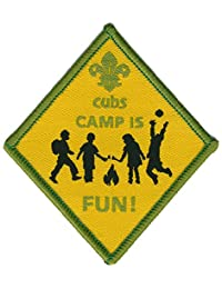 Cub Scout Camp is Fun Badge - Diamond Shape Design