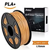 3D Printer Filament PLA+,PLA+ Filament 1.75 mm SUNLU,Low Odor Dimensional Accuracy +/- 0.02 mm 3D Printing Filament,2.2 LBS (1KG) Spool 3D Printer Filament,Coffee PLA+