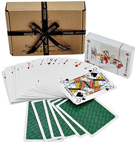 Jaques of London Canasta - Luxus Plasti-Cote, das Canasta-Karten - Canasta kartenspiel - jetzt mit Bewertungsblättern spielt