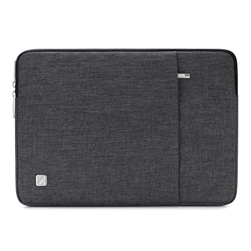 "NIDOO 15"" Wasserdichtem Material Laptop Sleeve Case Tragbar Notebook Hülle Beutel Anti-Kratzern Schutzhülle Tasche Schutzabdeckung für 15 Zoll MacBook Pro mit Touch Bar (Dunkelgrau)"