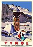 Vintage Travel Österreich für Tirol, von 1935250gsm,